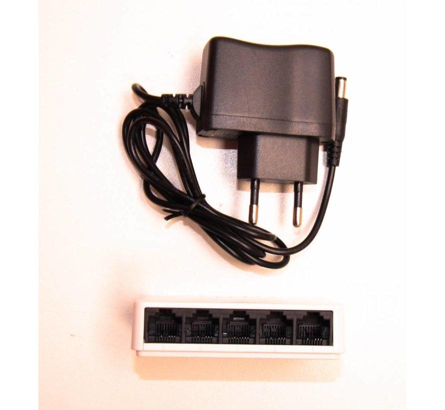 Netwerk Switch 5 poorten 100MB