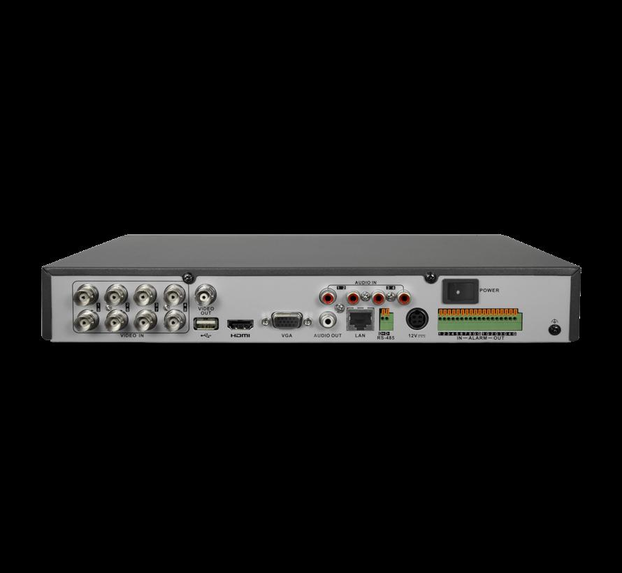 Safire SF-HTVR8108AH-4AI 8 kanalen HDTVI, CVI, AHD, CVBS en 8IP beveiligingscameras