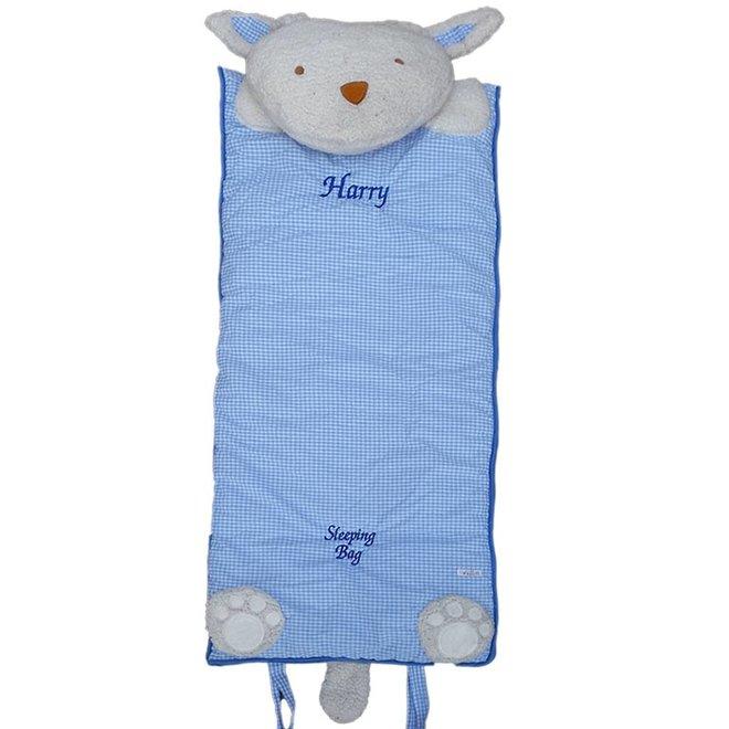 Blue White Gingham Sleeping Bag