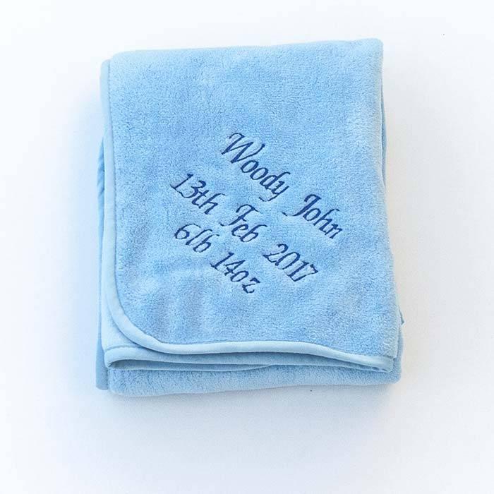 Blue Fleece Baby Blanket-1