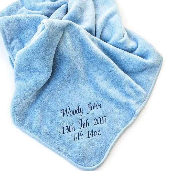Blue Fleece Baby Blanket-3