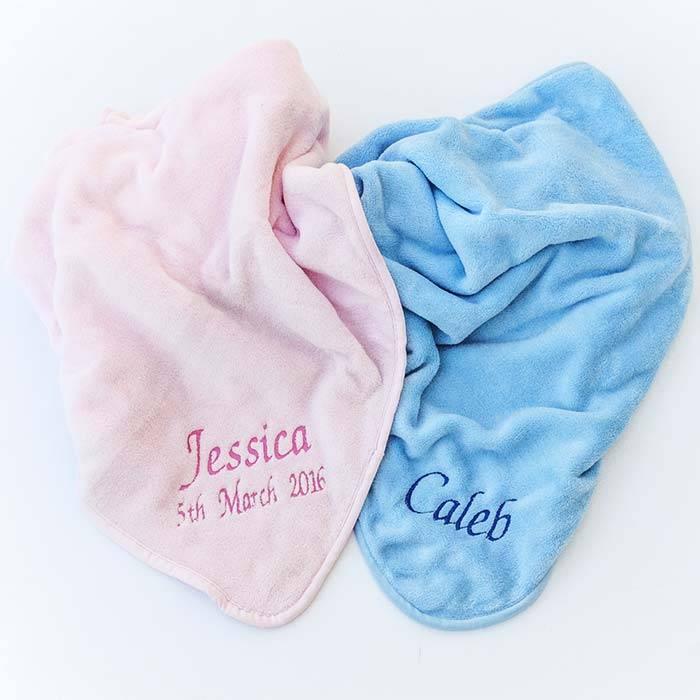 Blue Fleece Baby Blanket-4