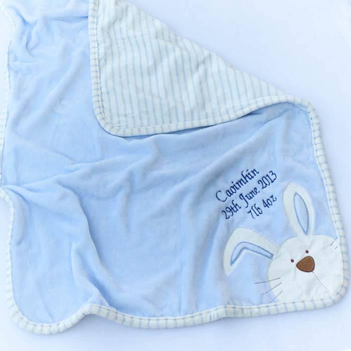 Personalised Baby Bunny Blanket-1