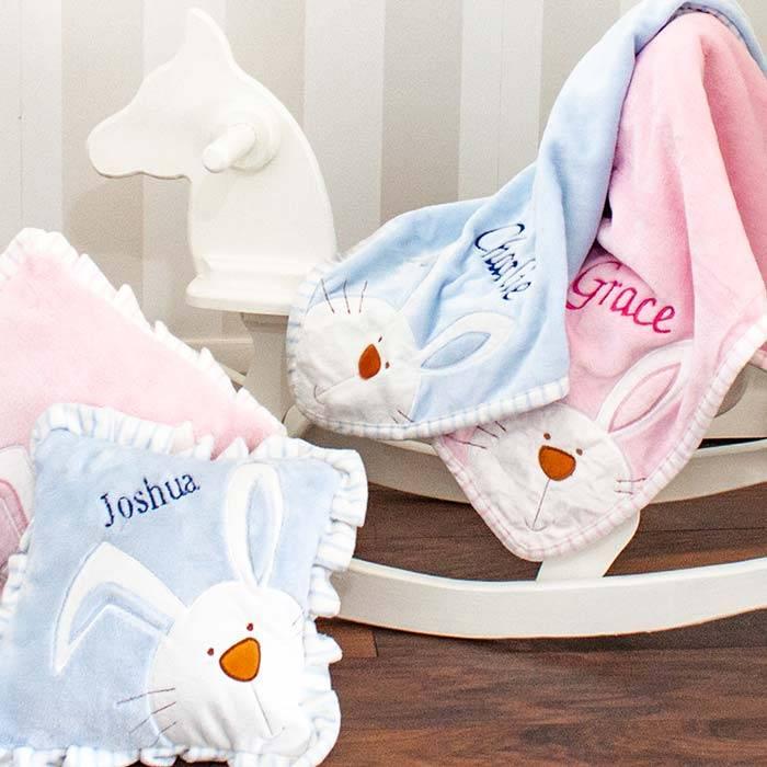 Personalised Pink Bunny Blanket-4