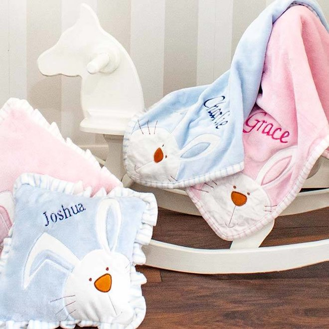 Pink Bunny Baby Cushion