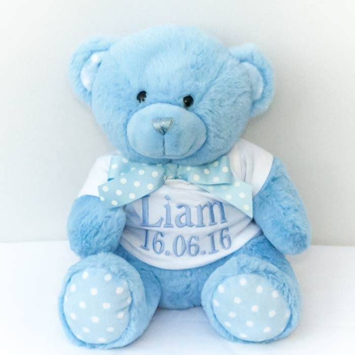 Personalised Blue Teddy Bear-2