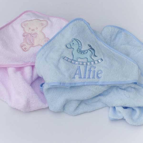 Personalised Pink Girls Hooded Towel-2