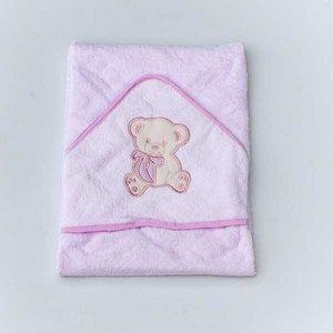 Personalised Pink Girls Hooded Towel