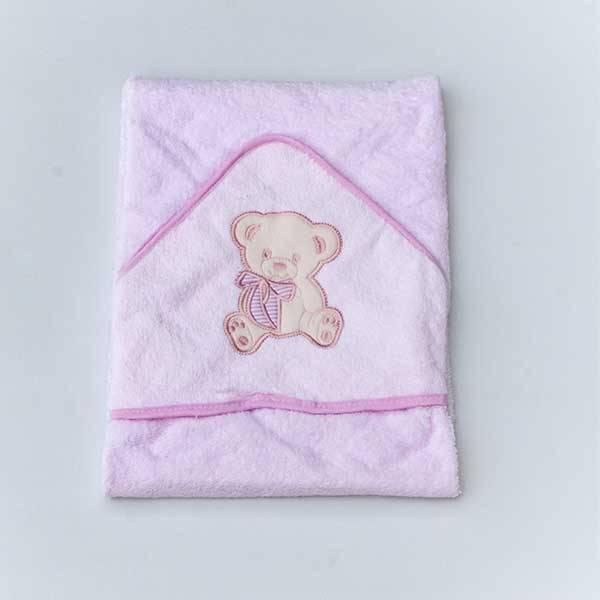 Personalised Pink Girls Hooded Towel-3