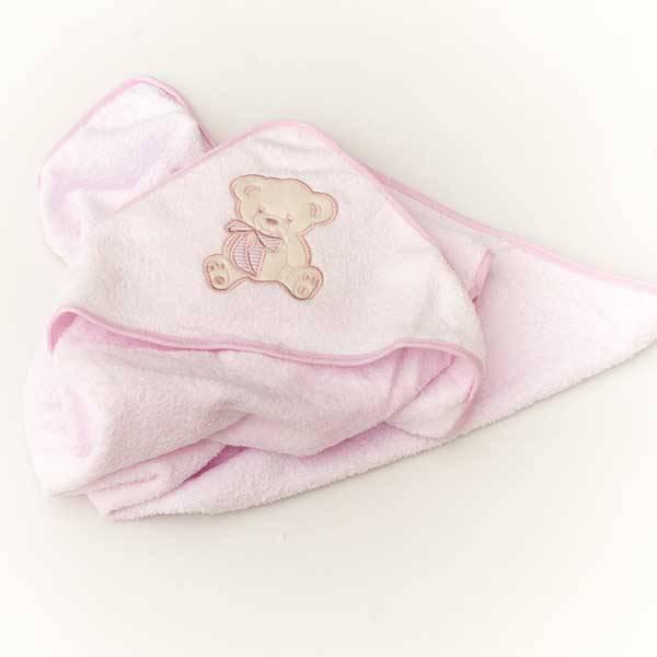 Personalised Pink Girls Hooded Towel-1