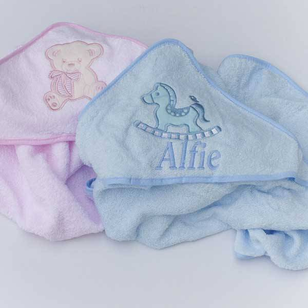 Personalised  Baby Boys Hooded Towel-2