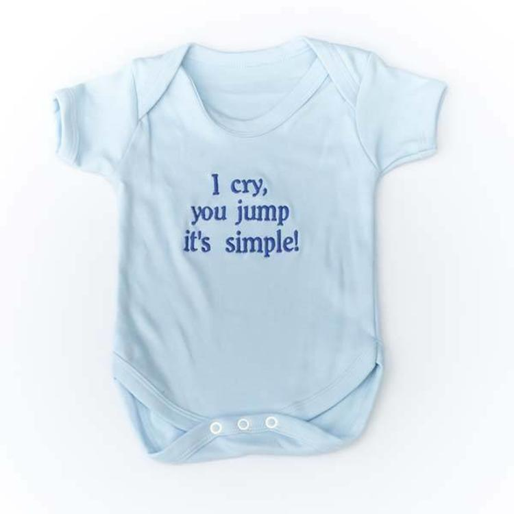 7b74f97e3aed Baby Vest with Message or Funny Quote