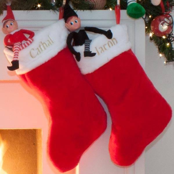 Personalised Plush Christmas Stocking-1