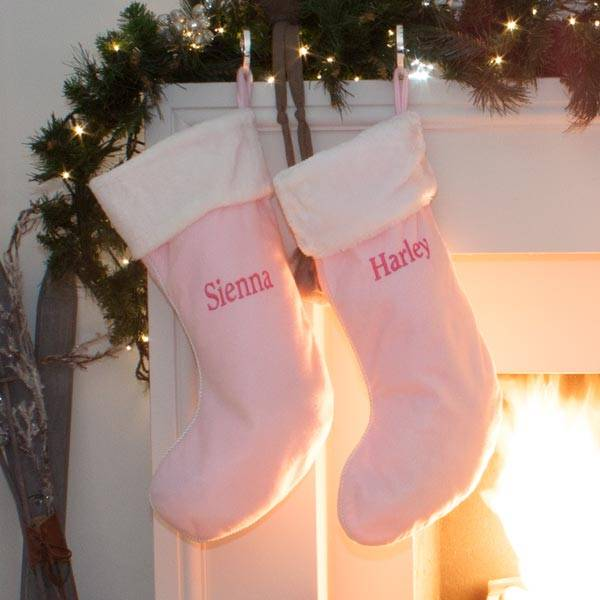 Pink and Blue Personalised Christmas Stockings-2