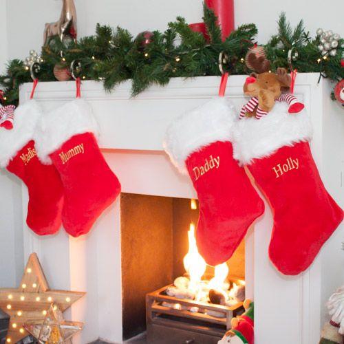 Plain Traditional Christmas Stocking-1
