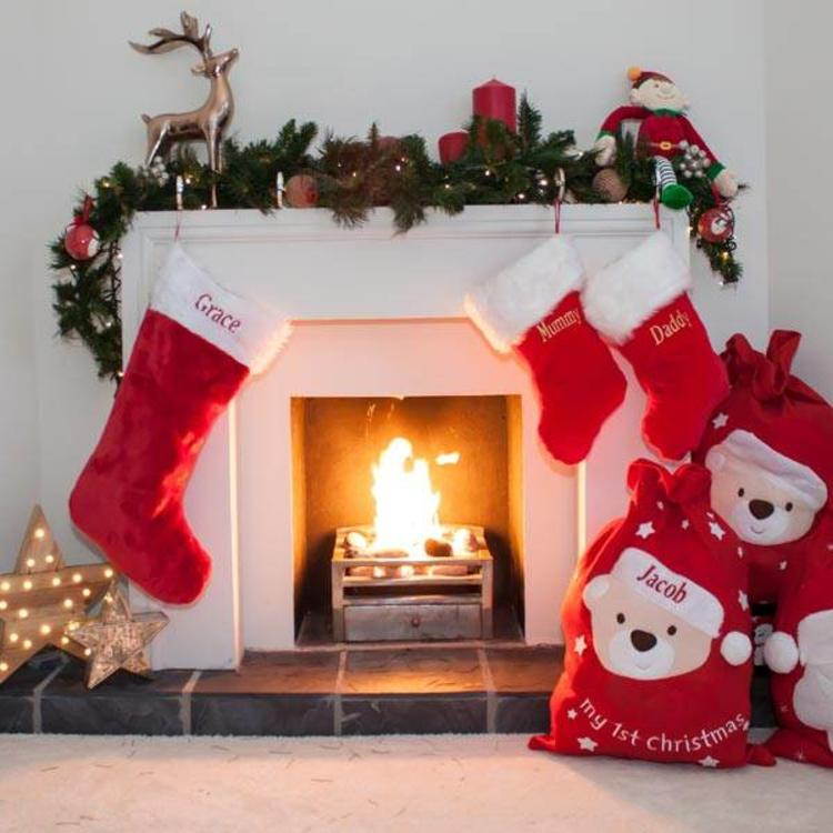 Large Personalised Traditional Christmas Stocking