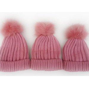 Personalised Dusty Pink Woollen Hat