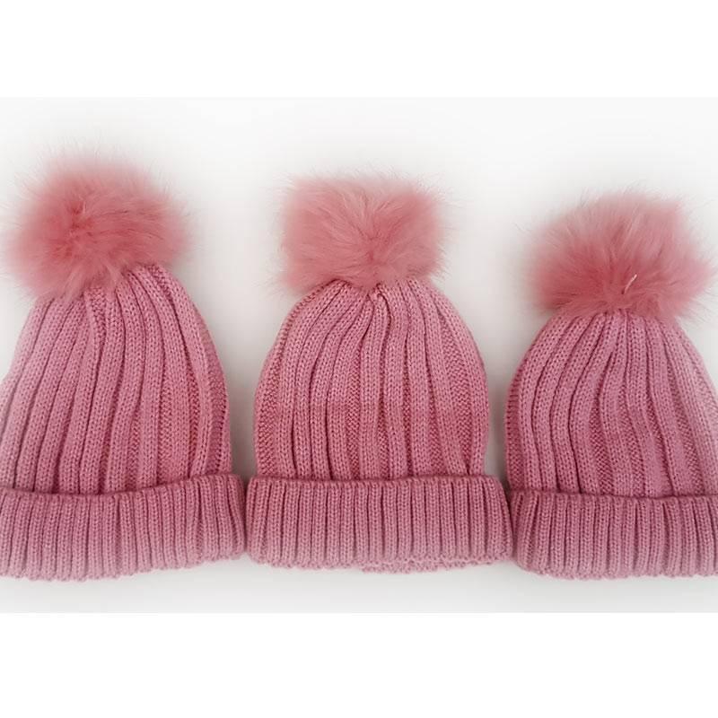 Personalised Dusty Pink Woollen Hat-2