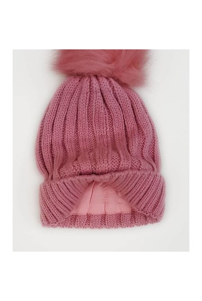 Personalised Dusty Pink Woollen Hat