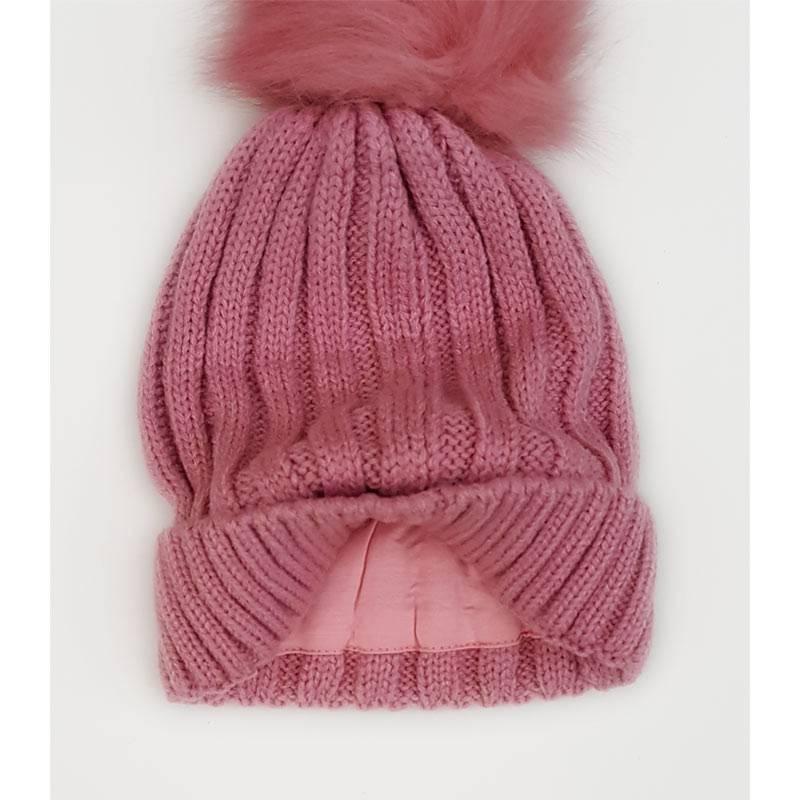 Personalised Dusty Pink Woollen Hat-1