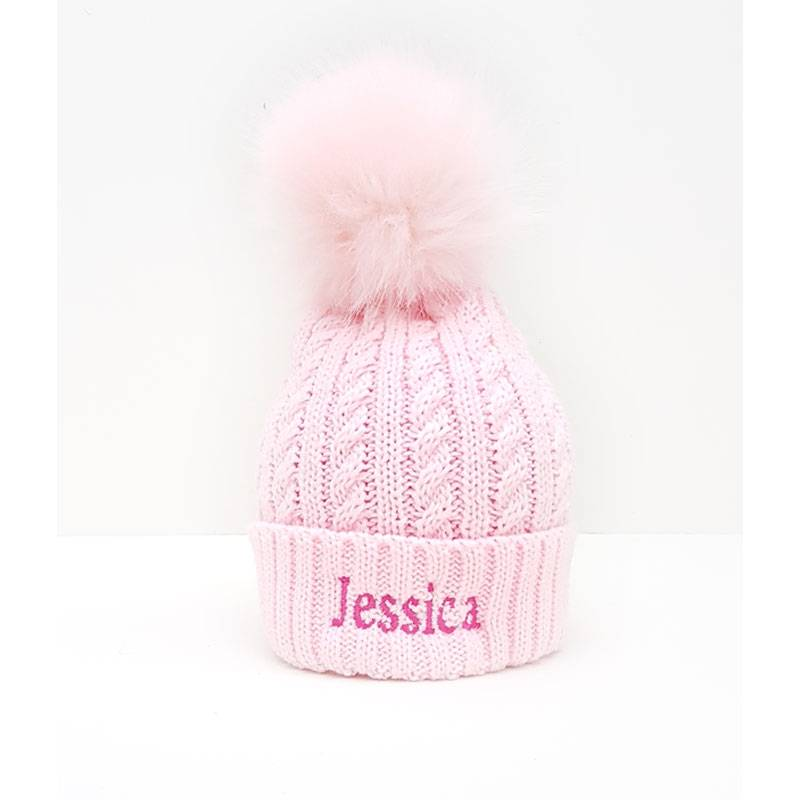 Personalised Childrens Knit Pom Bobble Hat-4