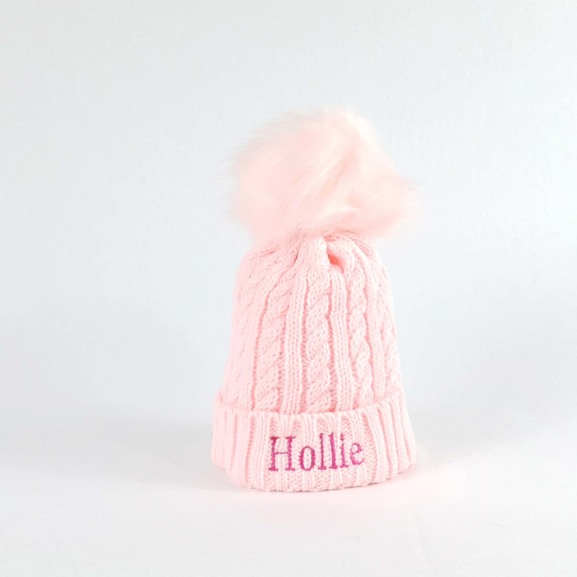 Personalised Childrens Knit Pom Bobble Hat-1