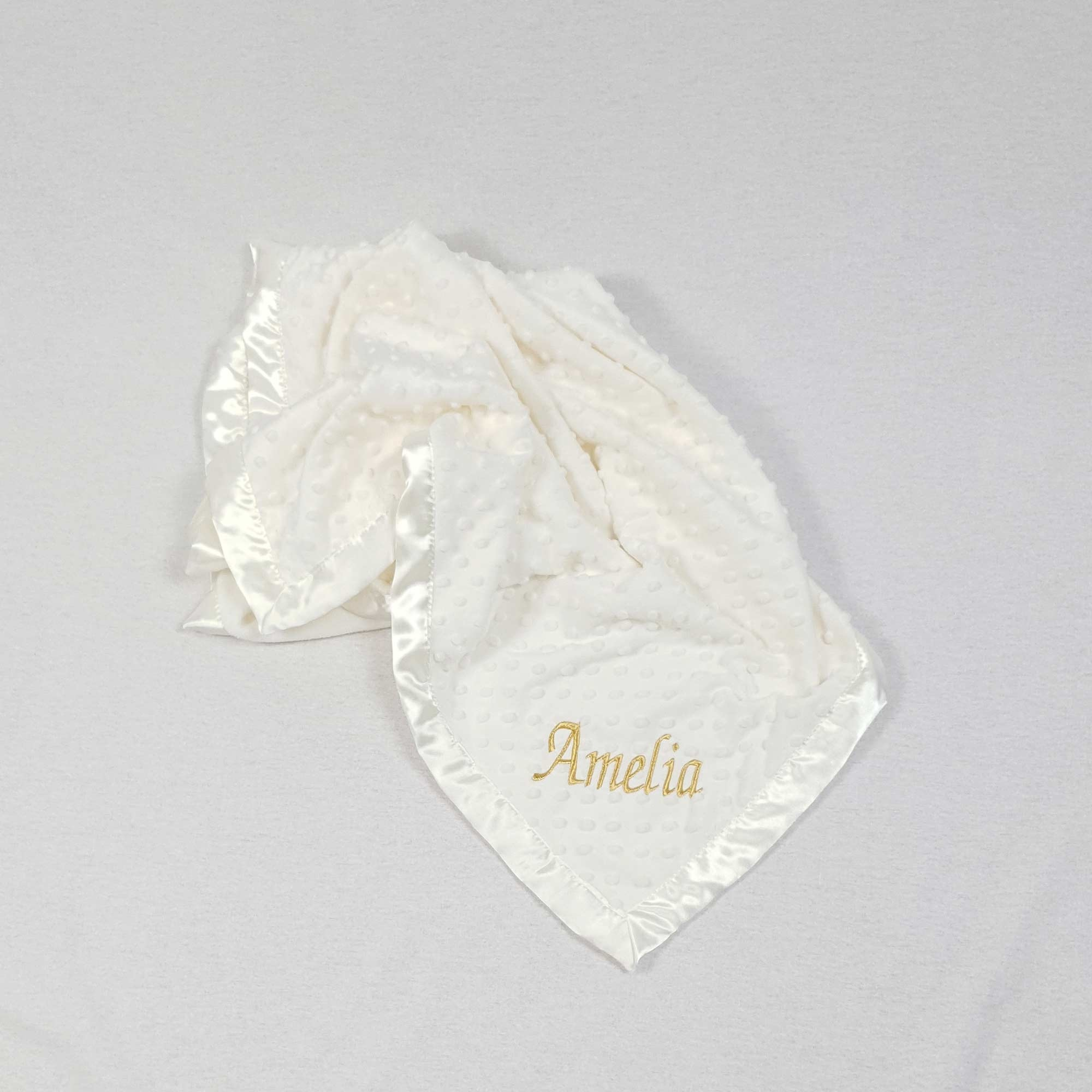 Ivory Baby Blanket with Dimples-4