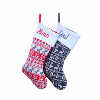 Personalised Nordic Christmas Stockings
