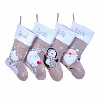 Personalised Grey Stockings