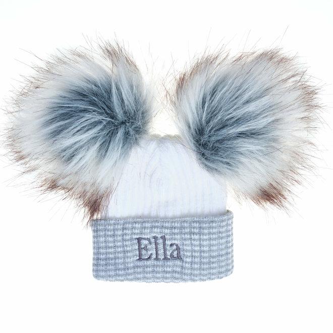 Personalised Bobble Pom Newborn Hat