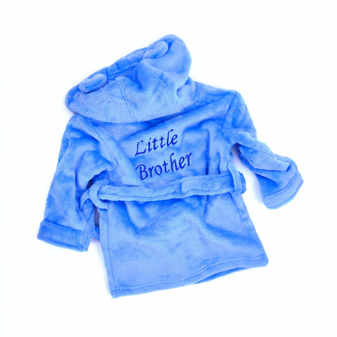 Personalised Baby Blue Robe with Bunny Ears