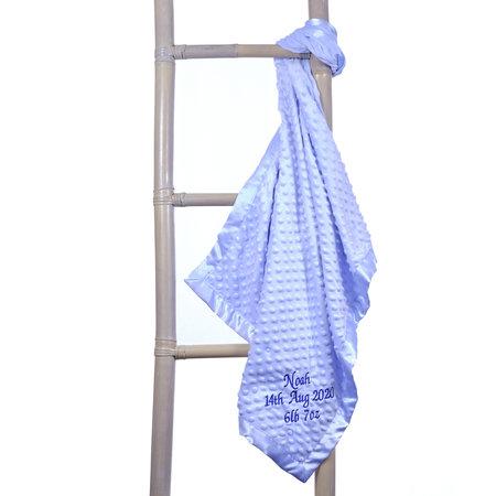 Personalised Blue Dimple Baby  Blanket