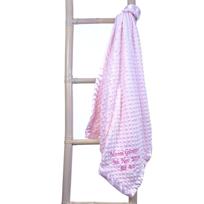 Personalised Pink Dimple Baby  Blanket