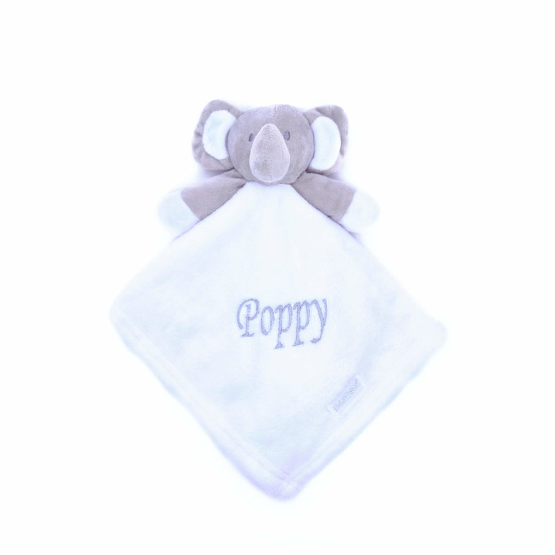 White Elephant Comfort Blanket Personalised with a Name