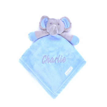 Blue Elephant Comfort Blanket Personalised
