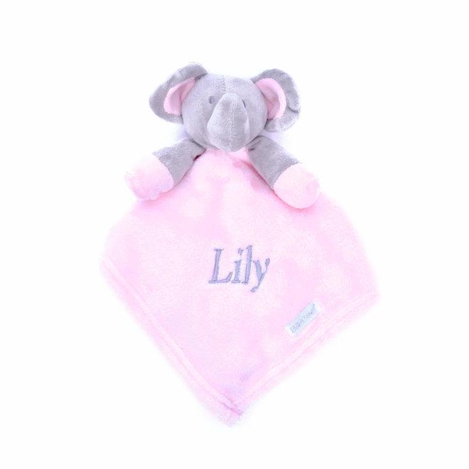 Pink Elephant Comfort Blanket Personalised