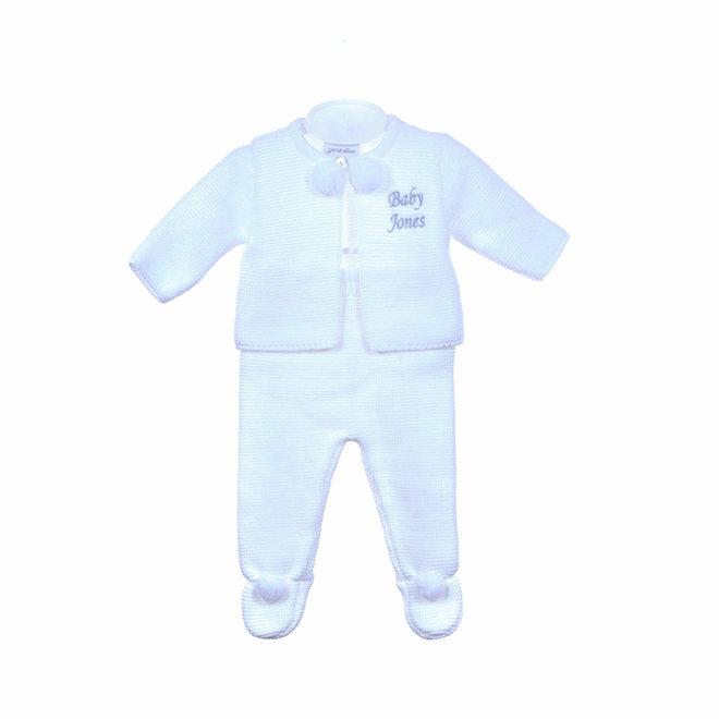 White Baby Pom Two Piece Set