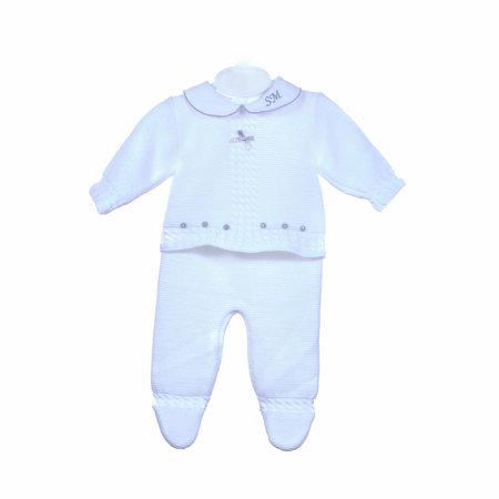 Dandelion White Baby Suit Three Piece Set