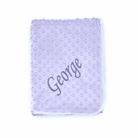 Personalised Grey Dimple Baby Blanket