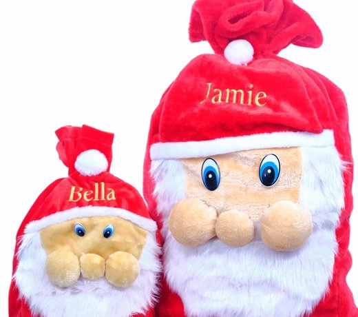 Personalised Christmas Santa Sacks