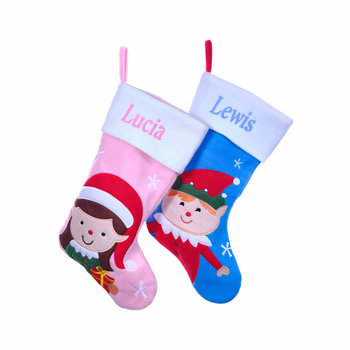 Personalised Elf Christmas Stockings