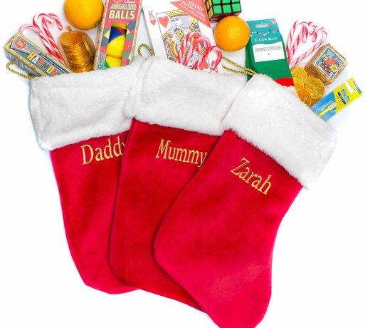 Traditional Personalised Christmas Stockings and Sacks