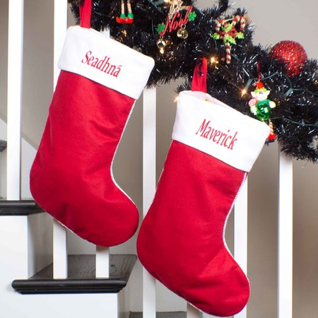 Personalised Red Christmas Stocking
