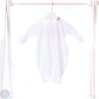 Pex Personalised White Sleepsuit Baby Grow