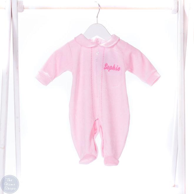 Personalised Pink Sleepsuit Baby Grow