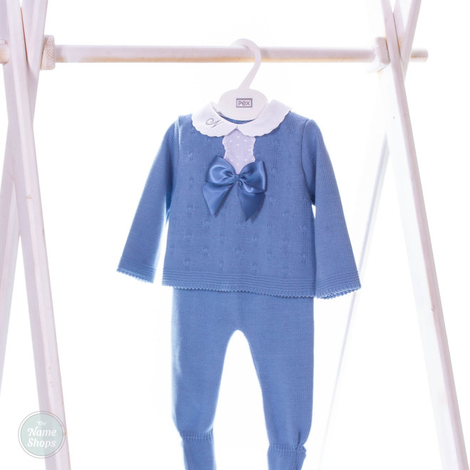 Dusty Blue Knitted Two Piece