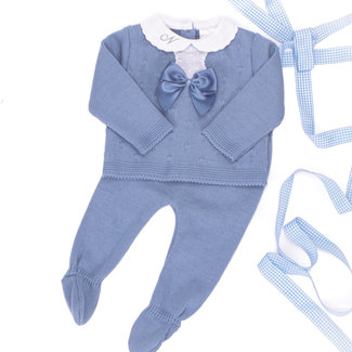 Pex Dusty Blue Knitted Two Piece
