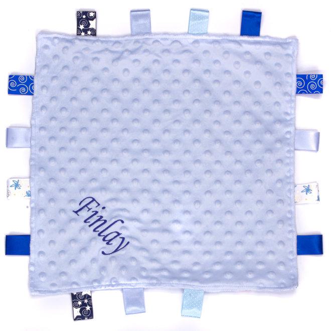 Personalised Blue Taggie Comfort Blanket