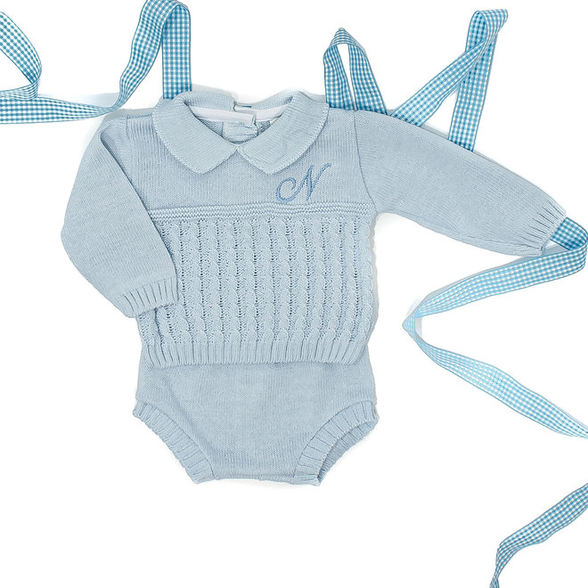 Personalised Boys Blue Two Piece Set