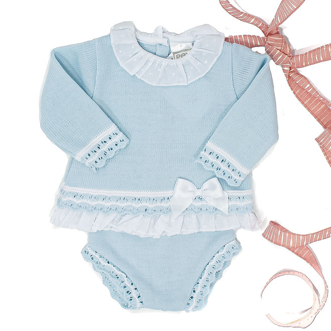 Personalised Girls Blue Two Piece Set